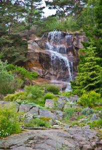 Vattenfallet i botaniska trädgården i Göteborg 120617