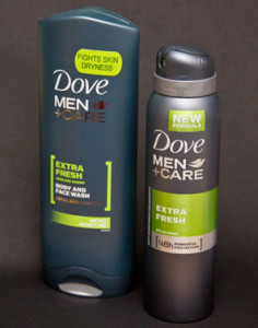 Dove Men +Care Duschcreme och Deospray