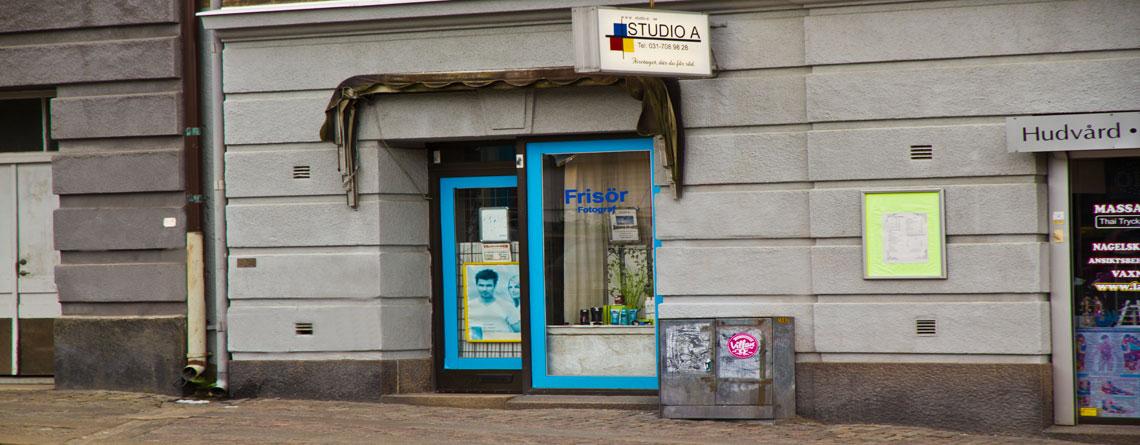 Bildvy på Entrén till Studio A Landala Göteborg