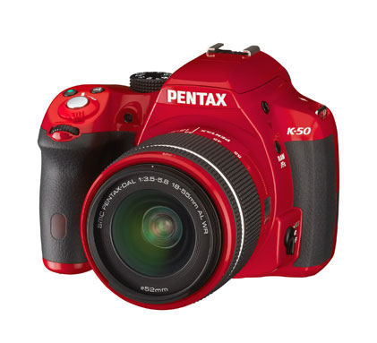 Varför inte en röd Pentax K-50 i år?