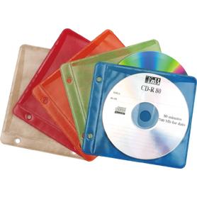 CD/DVD fodral i olika färger.
