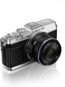 En systemkamera i kompaktmodell.