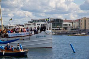 Kung Oskar den 2:e på ångaren Bohuslän